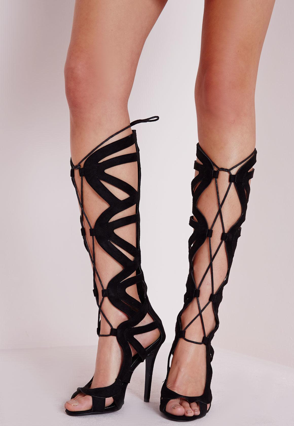 Gladiator Knee High Heel Sandals