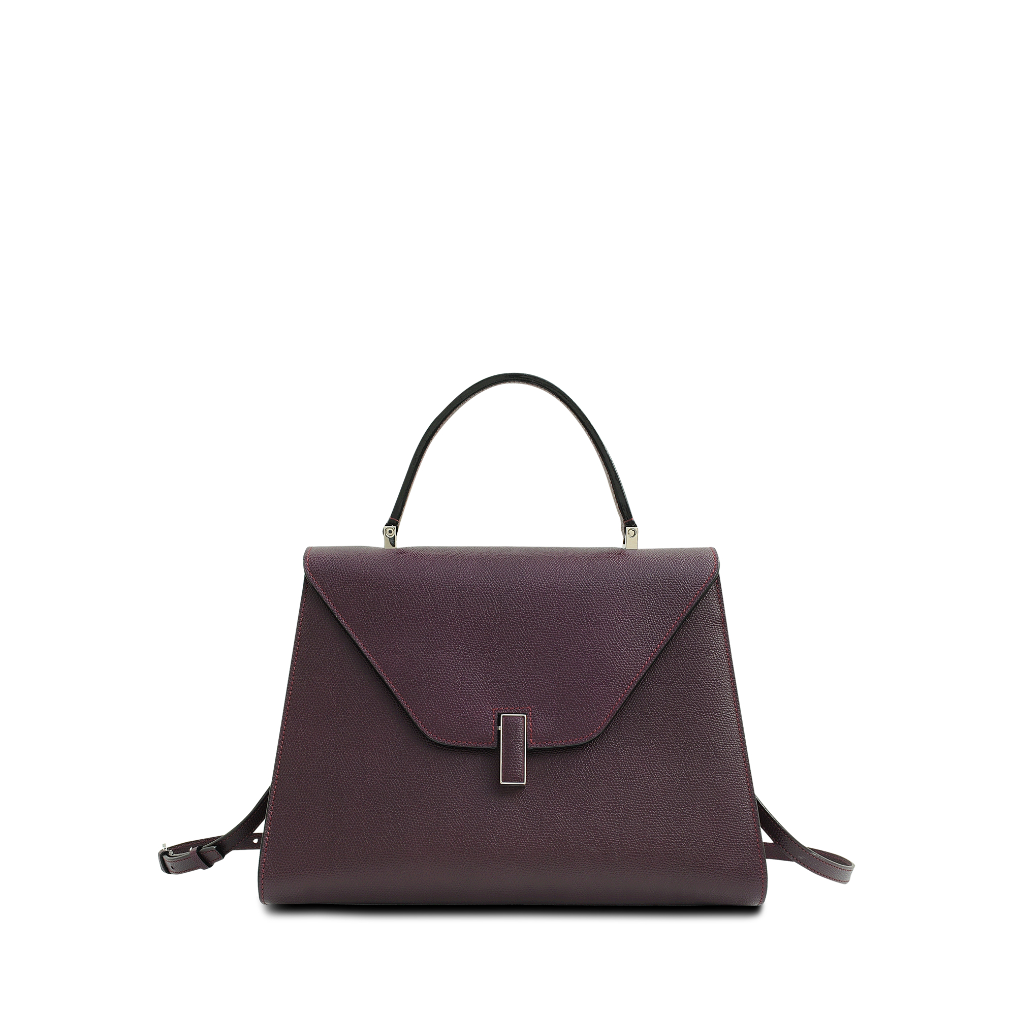 Valextra Isis Flap Bag in Purple