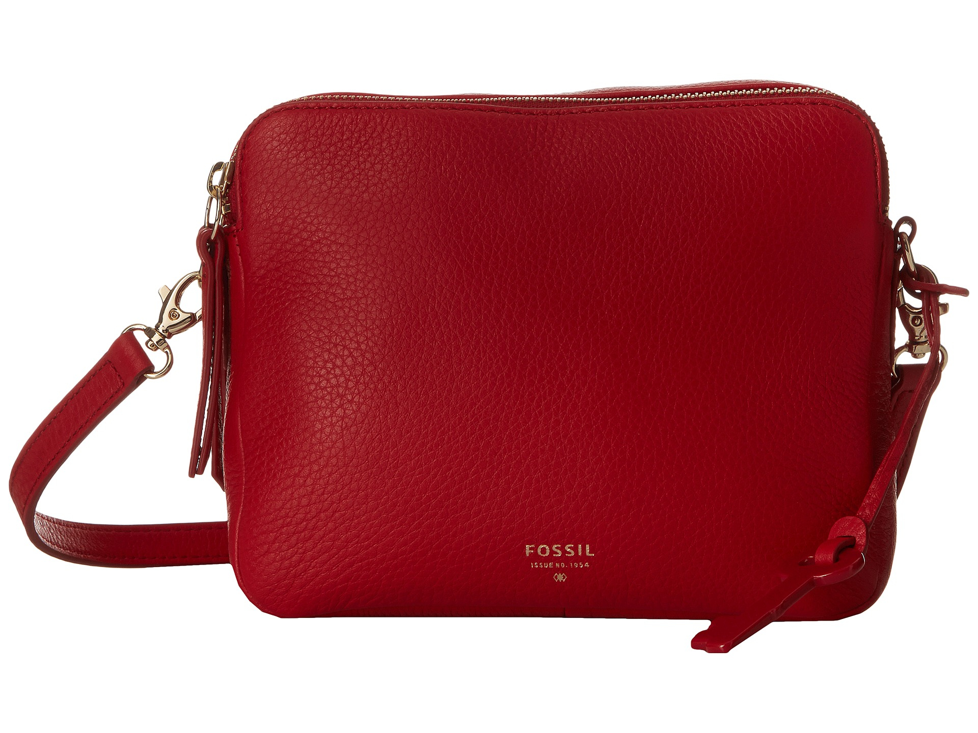 a2ab4ccd02f7d Lyst - Fossil Sydney Leather Crossbody Bag in Red