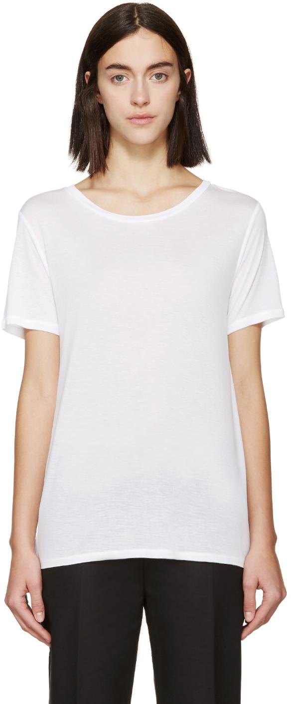 Rag Bone White Jersey Concert T Shirt In White Lyst