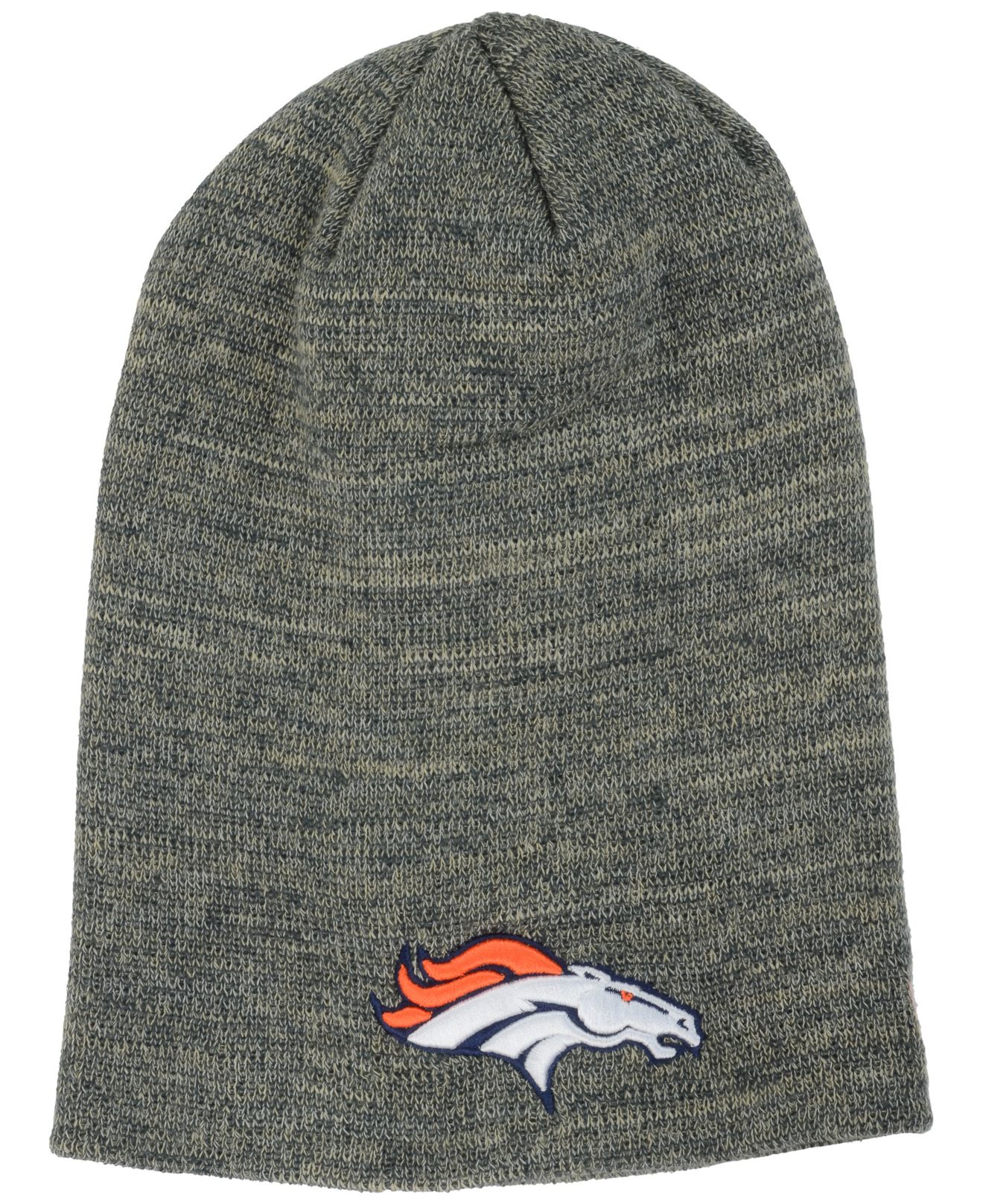 f1275d7a ... italy lyst ktz denver broncos slouch it knit hat in gray for men 538e9  3474f