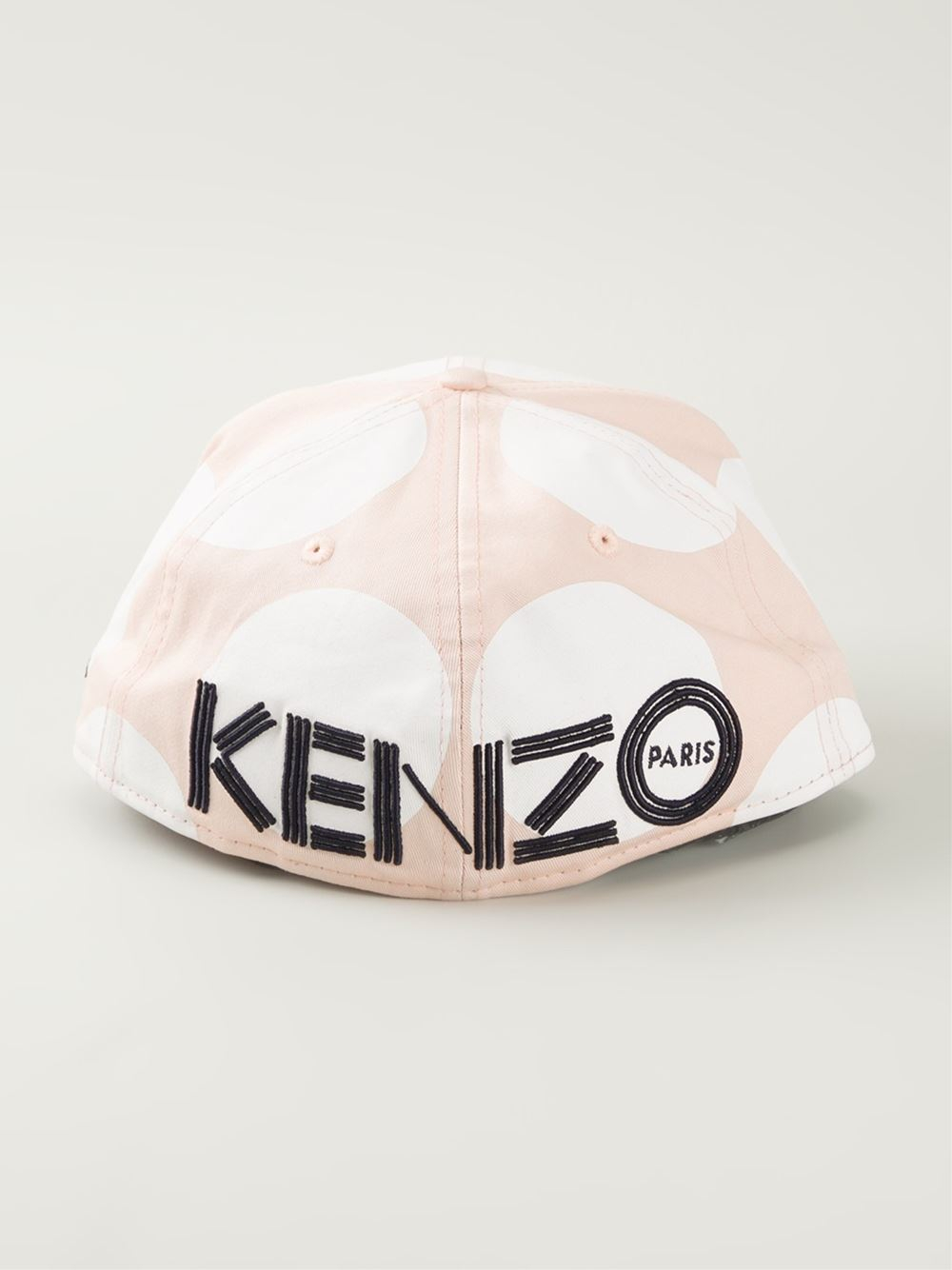 lyst kenzo dots amp logo new era cap in pink for men
