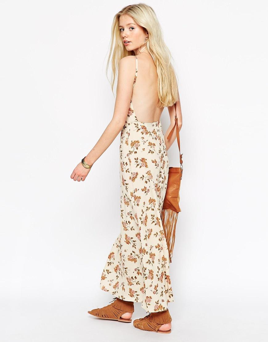 8fa61af3d ASOS Maxi Dress In Vintage Floral - Lyst
