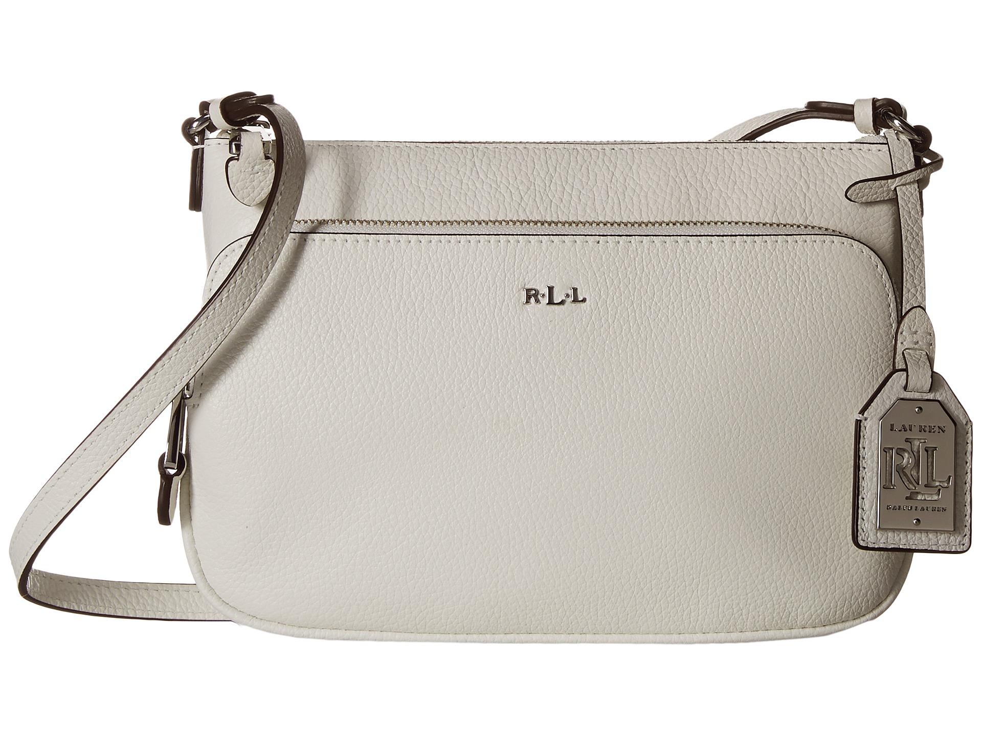 ed8d168a75ca Lyst - Lauren by Ralph Lauren Harrington Crossbody in White