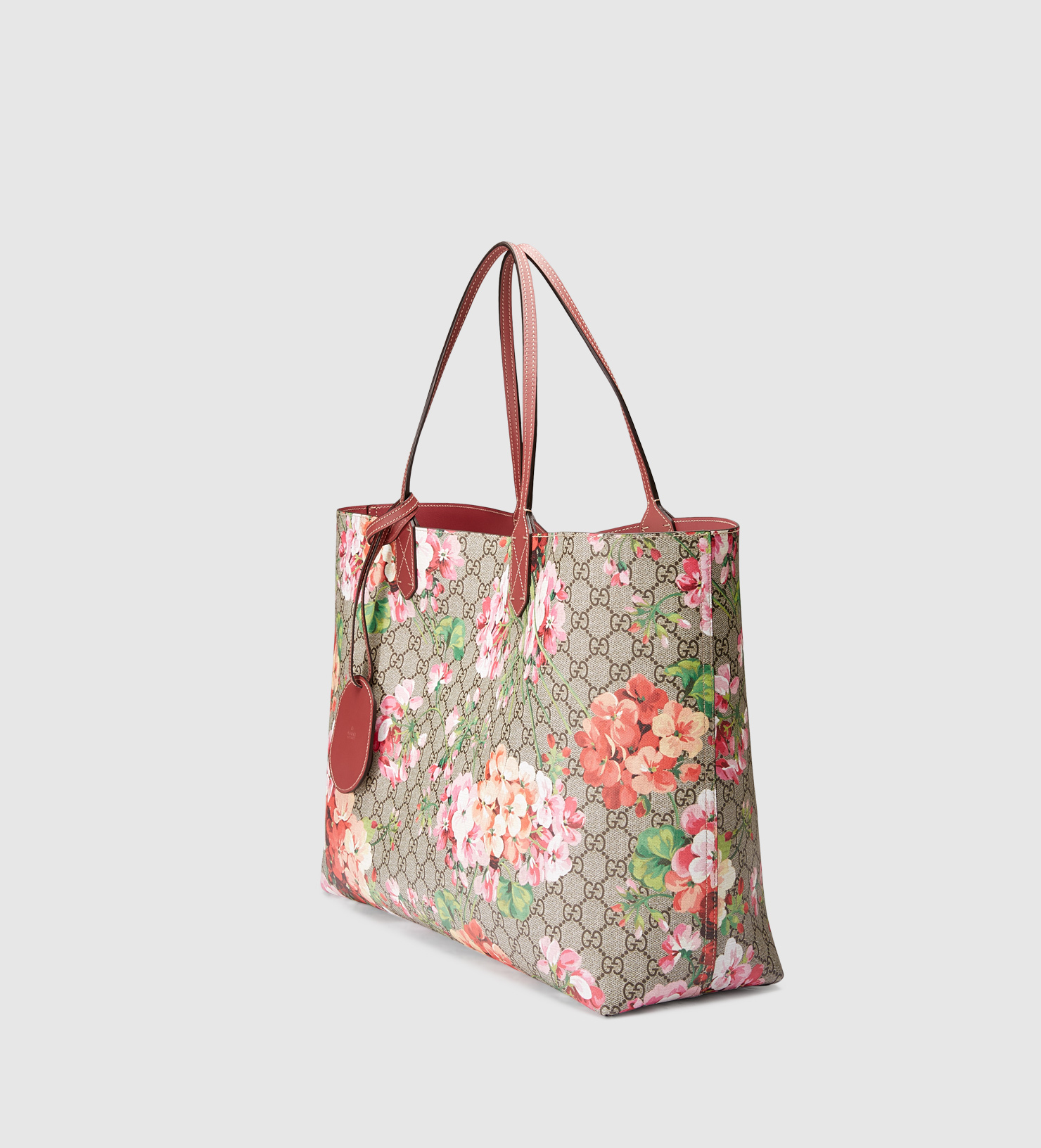 Gucci Reversible Gg Blooms Leather Tote - Lyst 29370fa1219f7