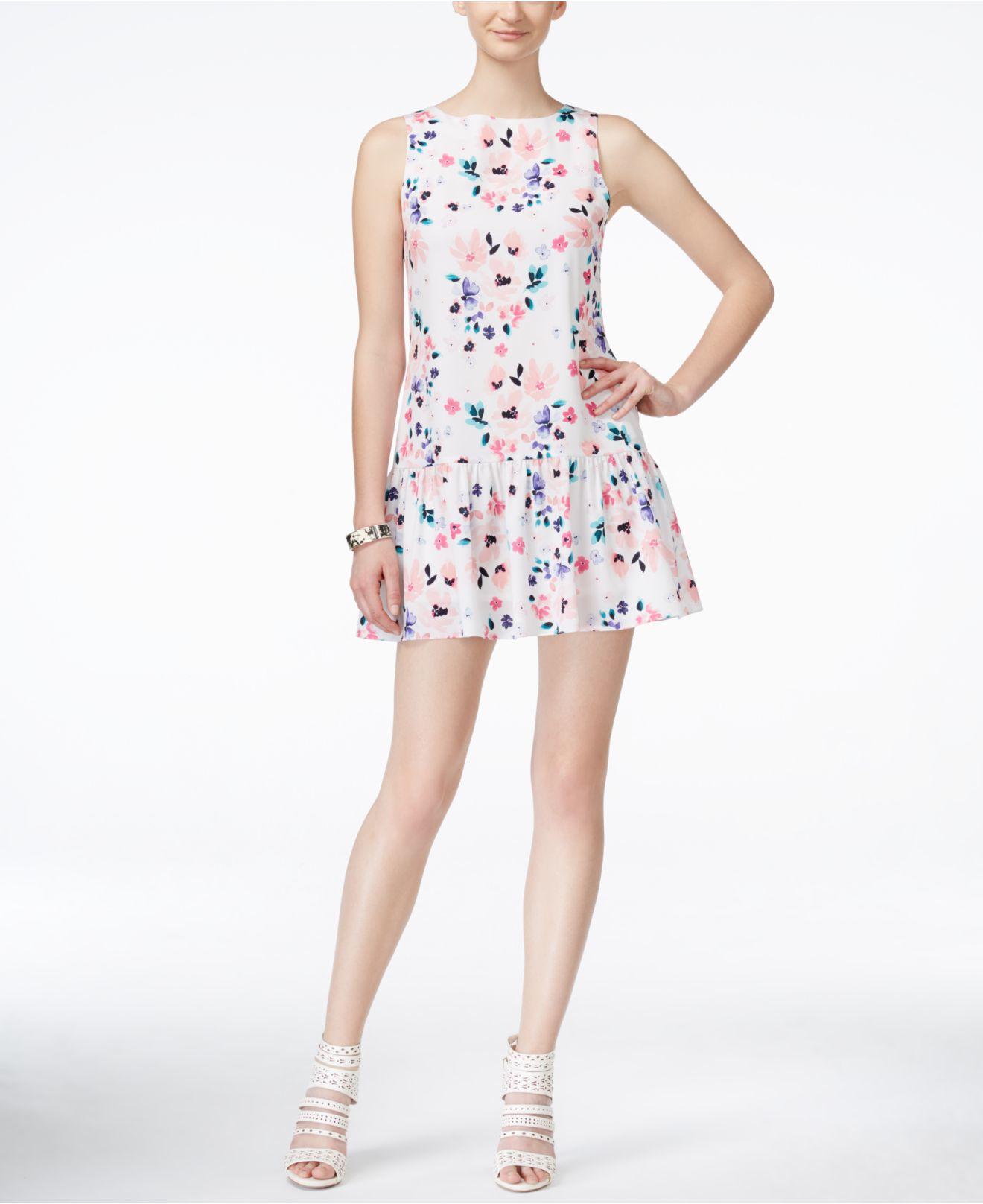 e779ce576a03 Cece by Cynthia Steffe Cece Floral-print Drop-waist Dress - Lyst