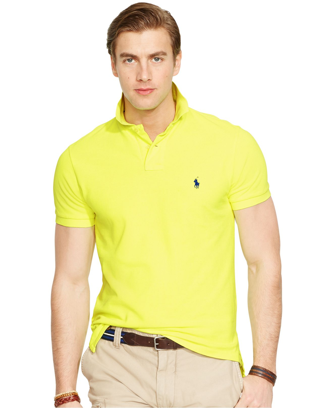 Polo ralph lauren custom fit neon mesh polo shirt in for Ralph lauren custom fit mesh polo shirt