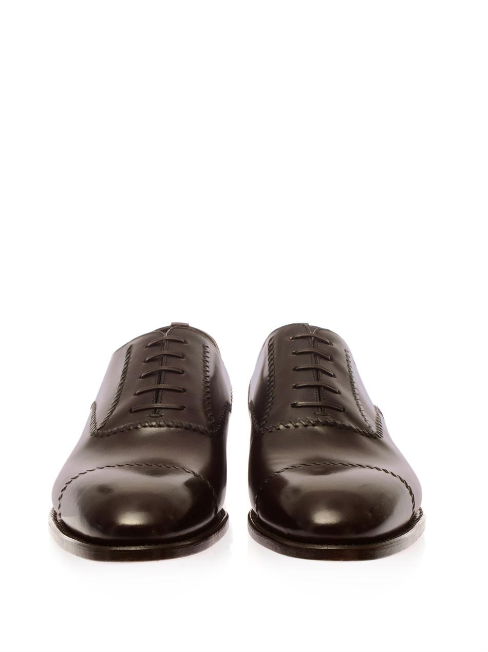 Brioni Leather Derby Shoes In Brown For Men Lyst