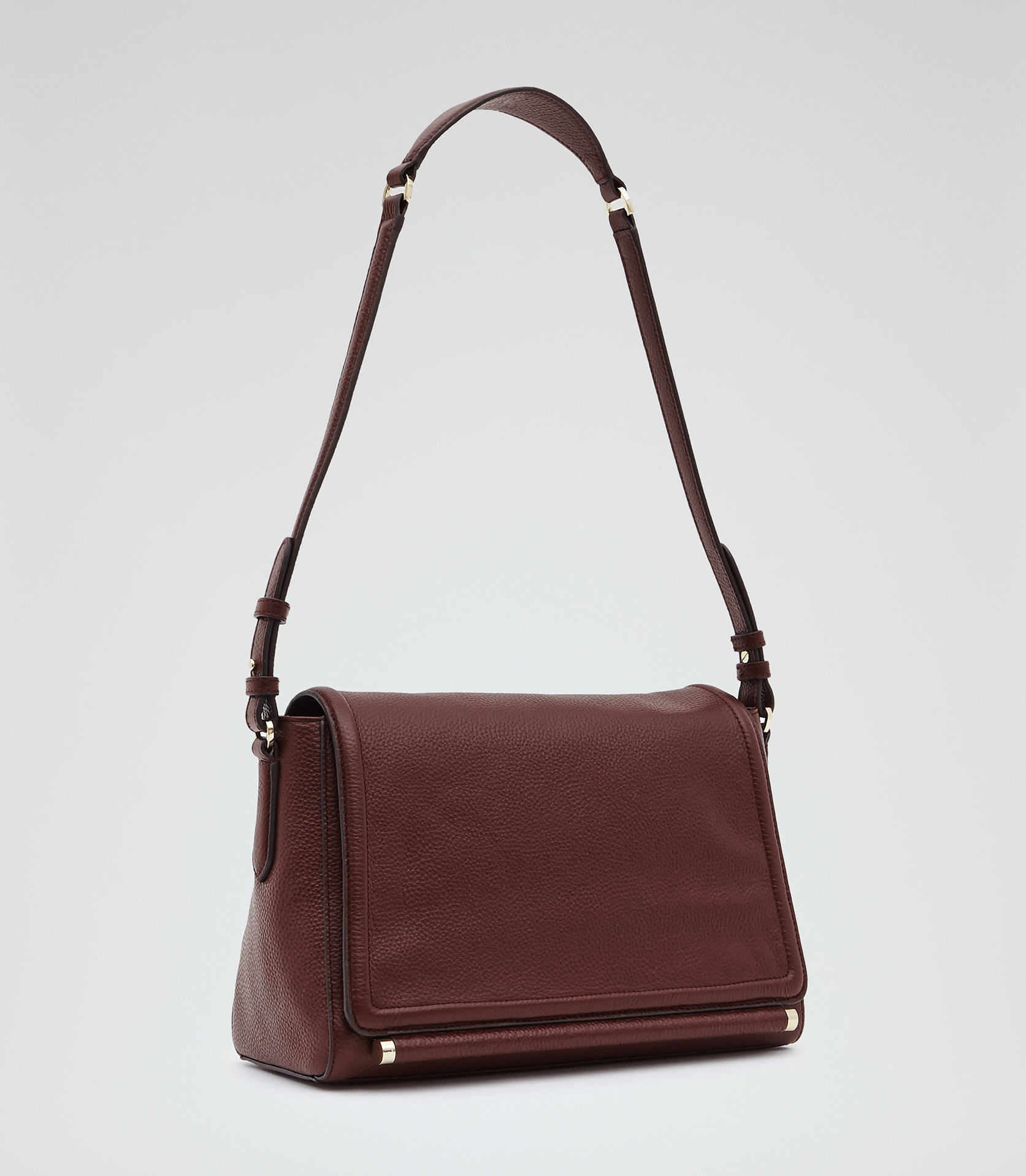 Reiss Sahara Leather Shoulder Bag in Red | Lyst