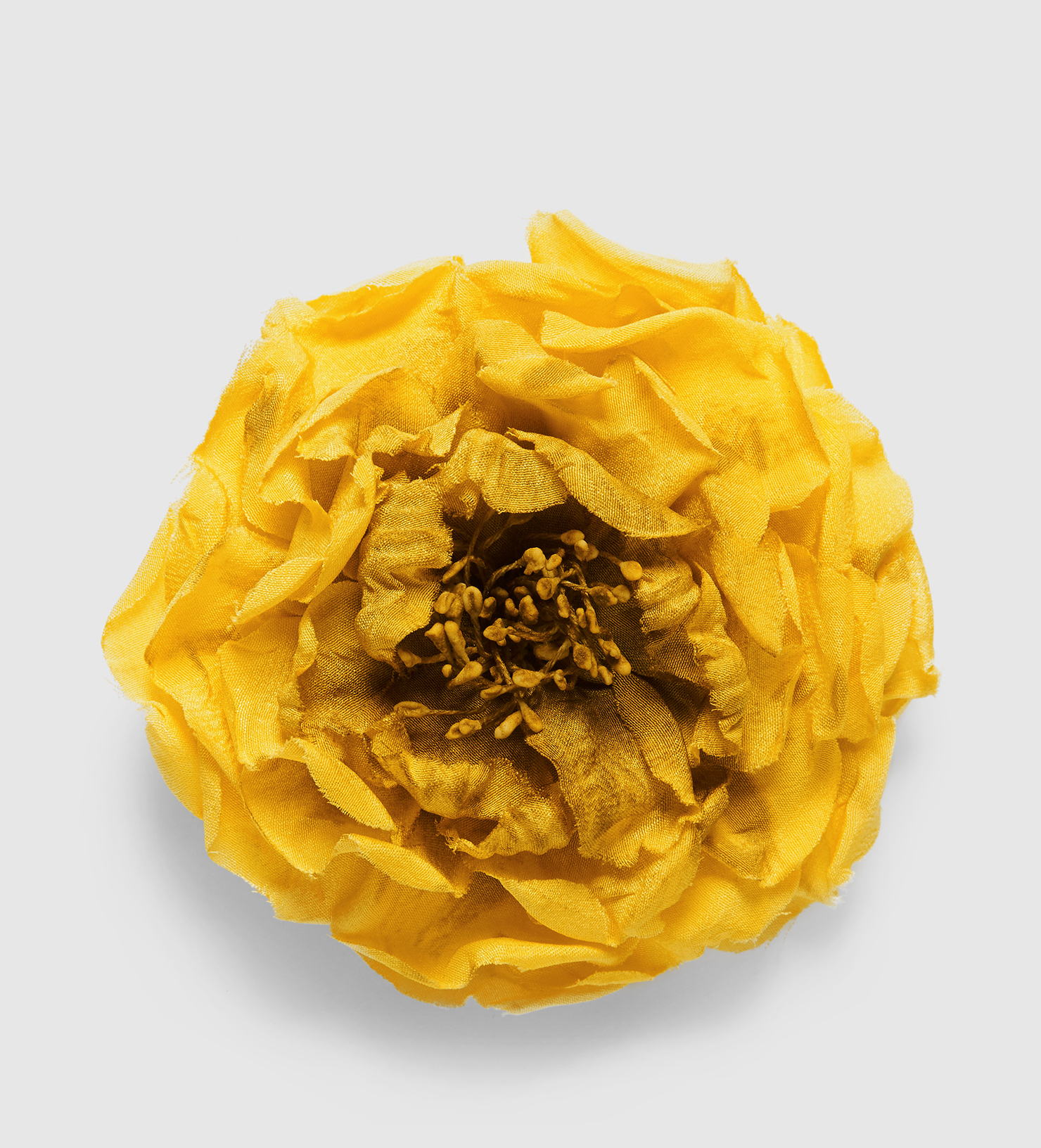 Gucci Flower Pin In Silk In Yellow Lyst