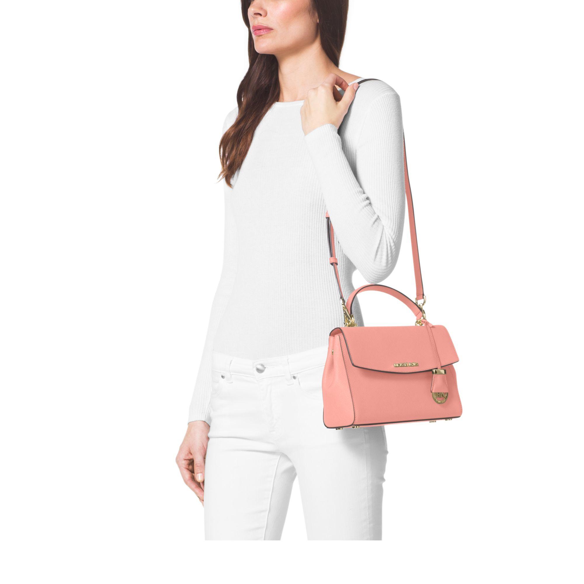 d5faef529b28 michael kors ava mini pale pink repair handbag spine