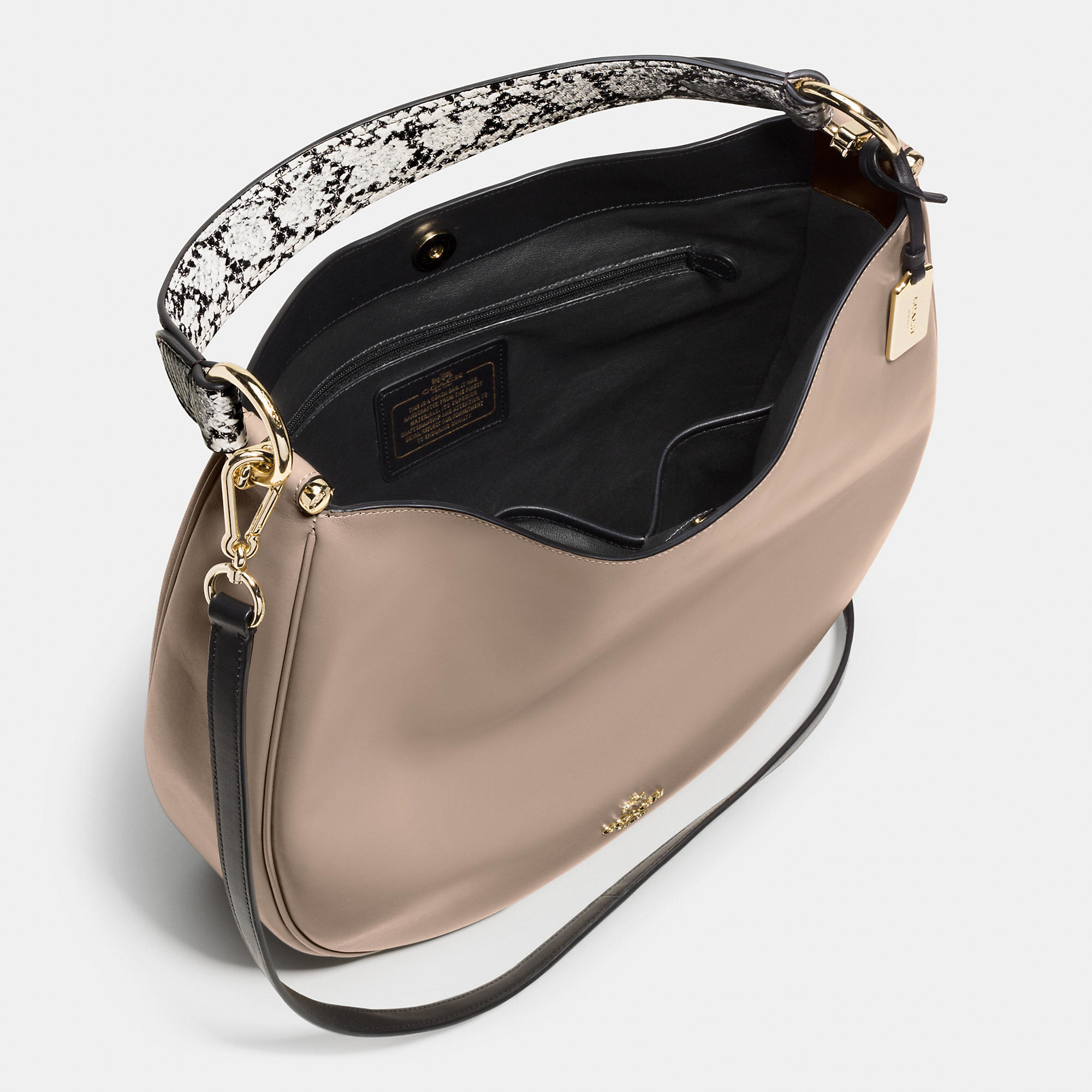 Lyst Coach Nomad Hobo In Colorblock Exotic Embossed