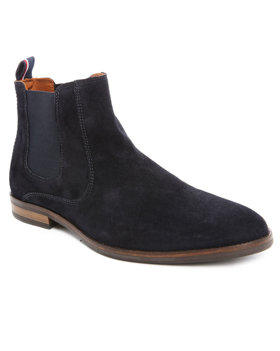 tommy hilfiger dalton 18b suede chelsea boots in blue for men lyst. Black Bedroom Furniture Sets. Home Design Ideas