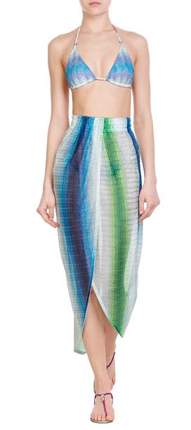 Missoni Crochet Knit Skirt Multicolor Lyst