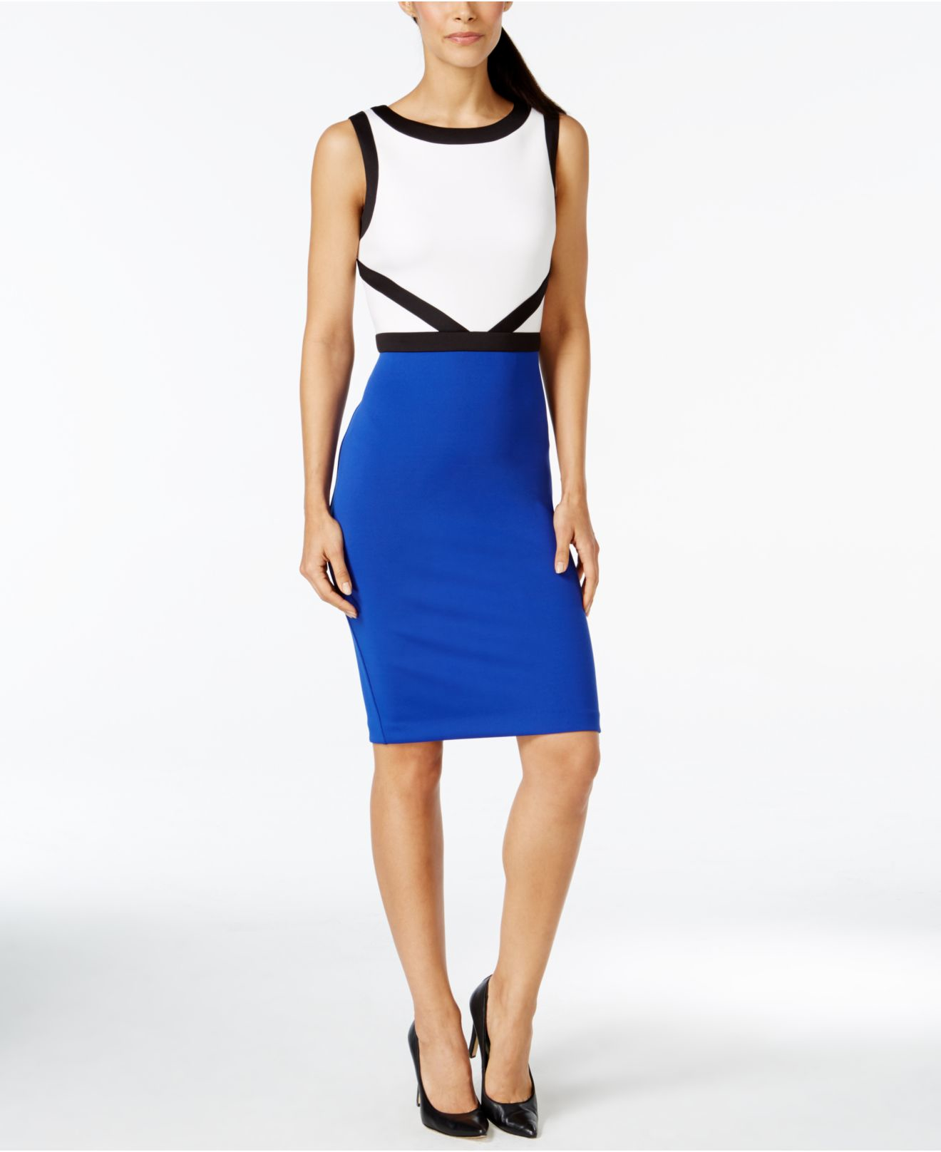 e5f44d9cb1c Calvin Klein Blue Dress - Collections Blue Images