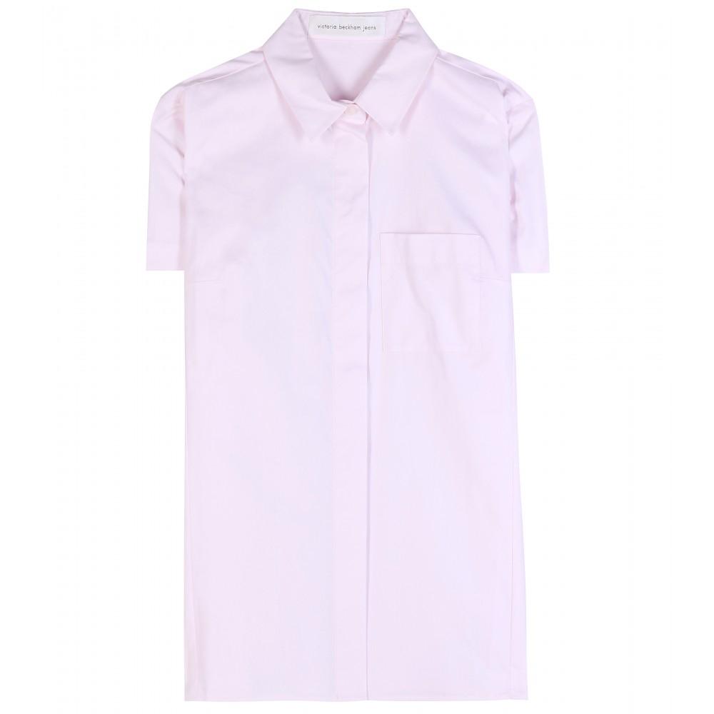 Lyst Victoria Beckham Cotton Shirt In Pink