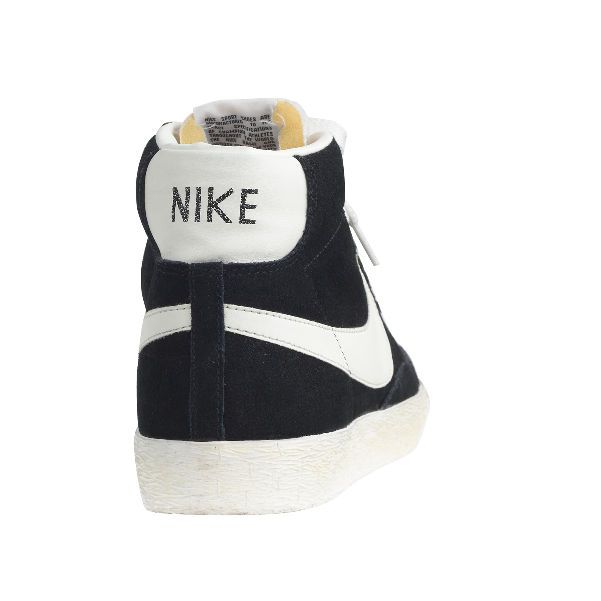 Lyst - J.Crew Men s Nike Blazer High Suede Vintage Sneakers in Black for Men 58483af4ed9d