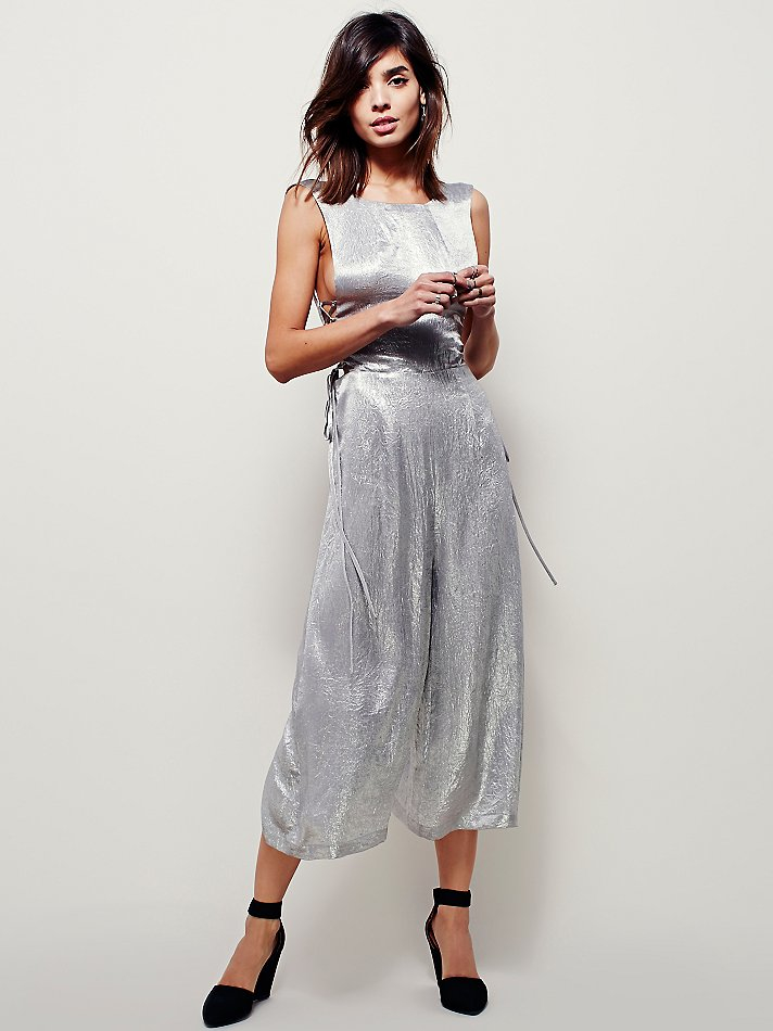 Free people Metallic Jumpsuit in Metallic | Lyst