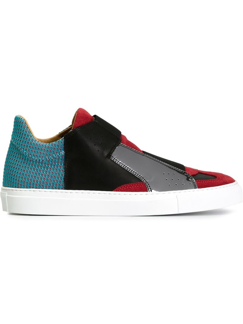 Mm6 by maison martin margiela panelled slip on sneakers in for Mm6 maison margiela
