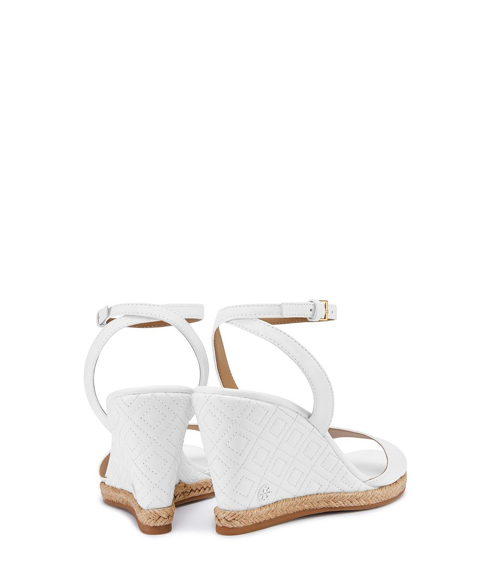 fb643e2d2 Tory Burch Marion Quilted Espadrille Wedge Sandal In White Lyst