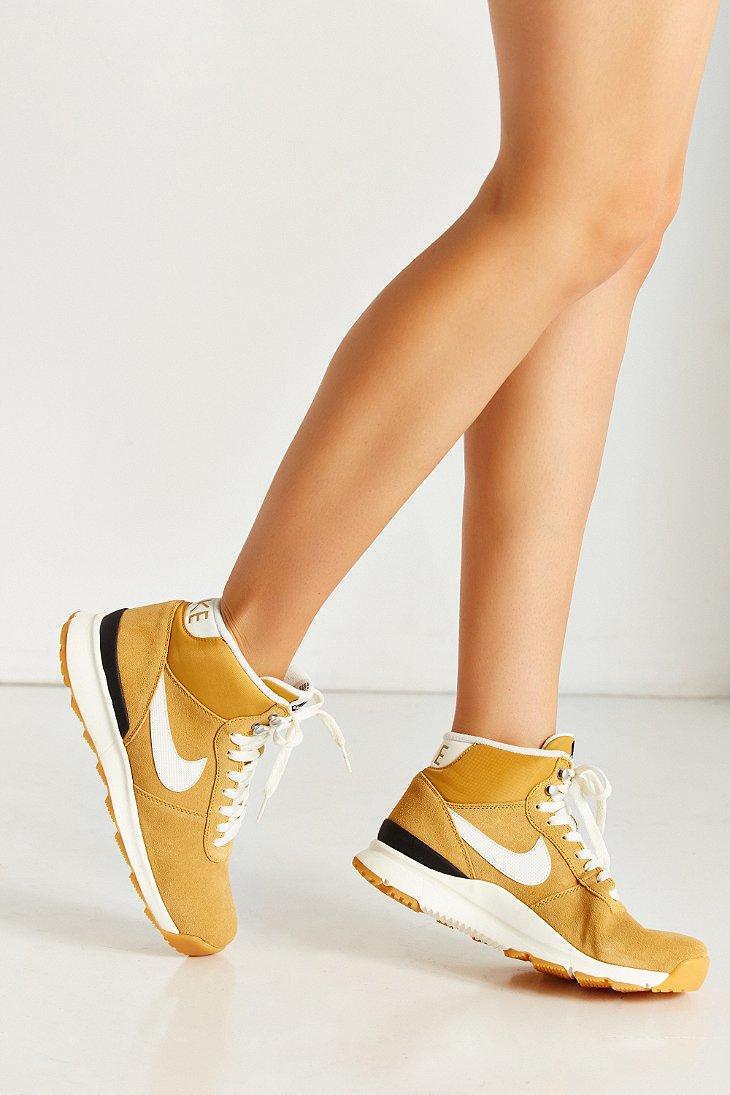 Lyst Nike Women S Acorra Suede Sneakerboot In Yellow