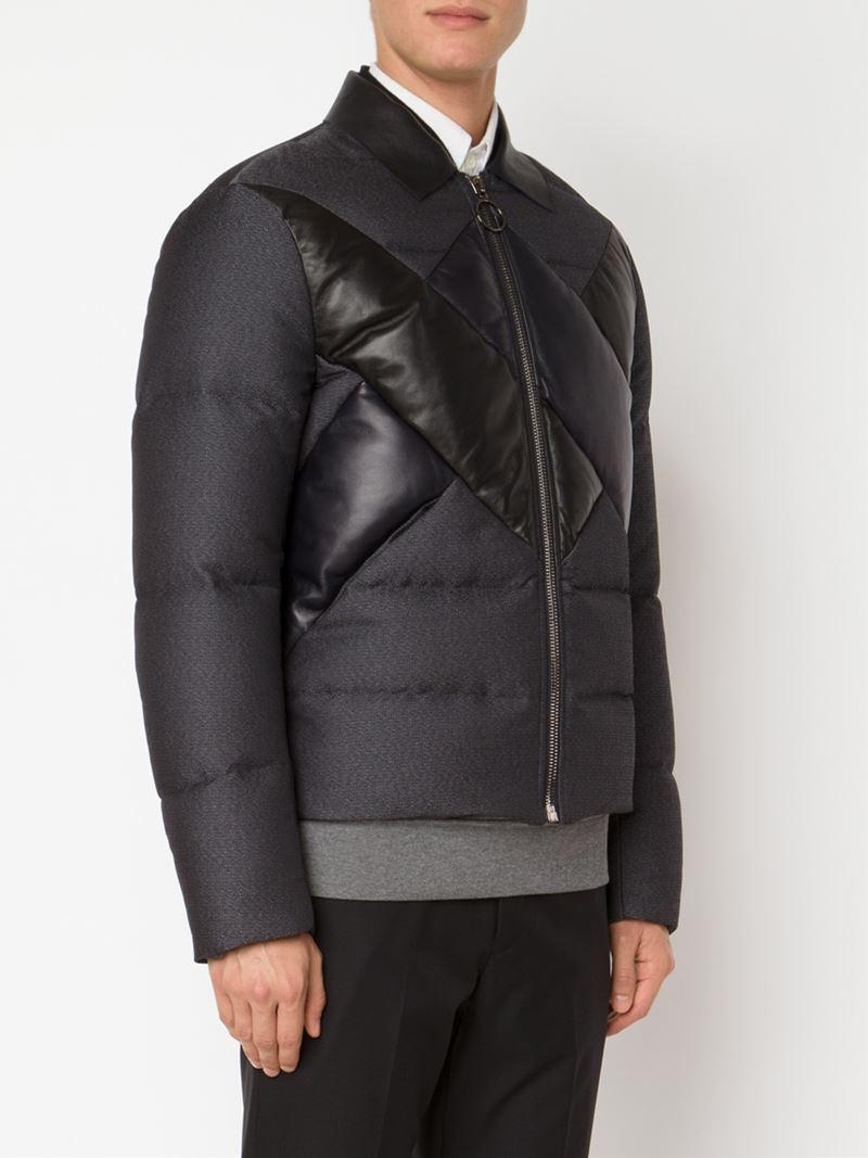 viktor rolf padded jacket in gray for men lyst. Black Bedroom Furniture Sets. Home Design Ideas