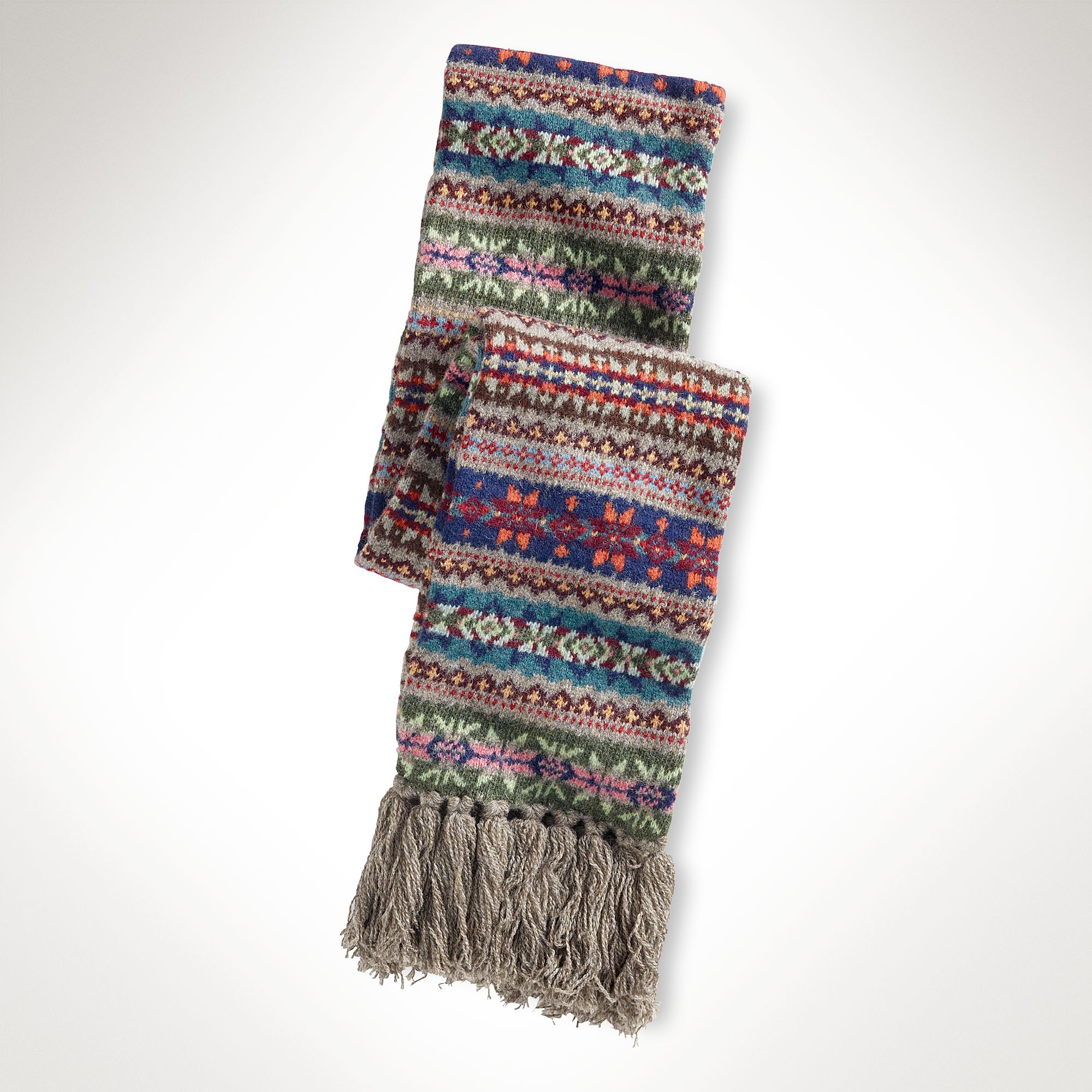 56aa9250c045e ... low cost polo ralph lauren fair isle wool scarf for men lyst b7139 180bc
