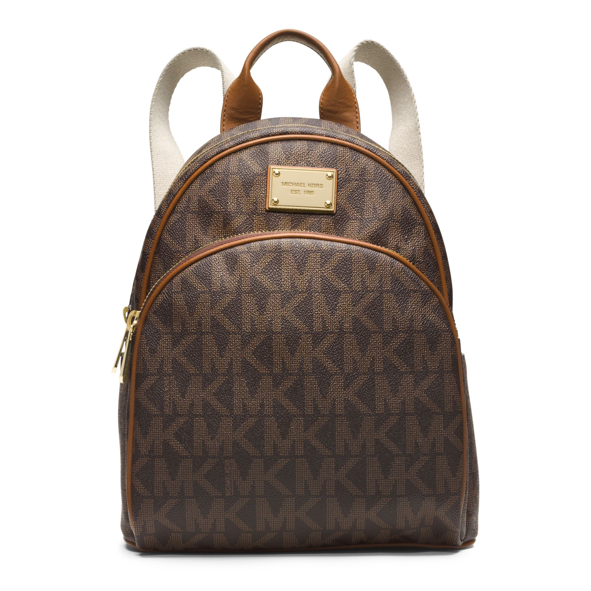 Michael kors Jet Set Travel Logo Small Backpack in Brown | Lyst
