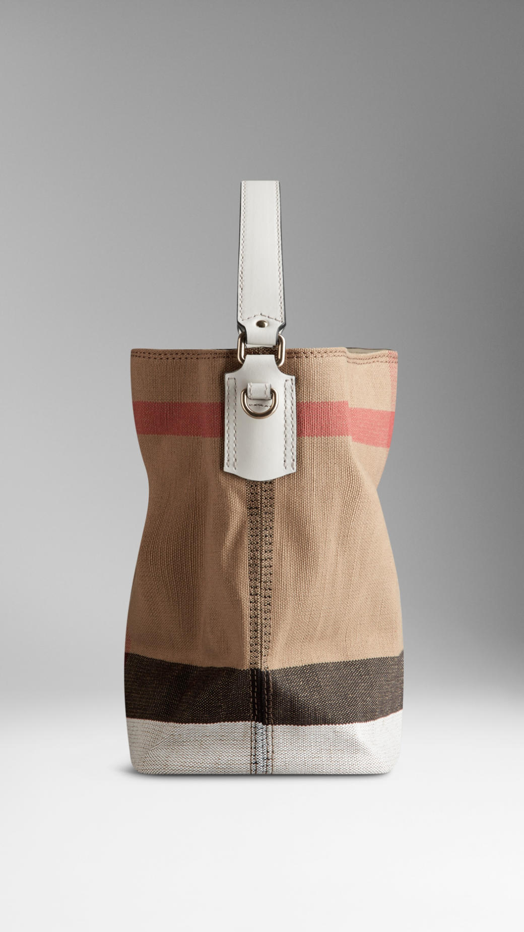 2031ce640339 Lyst - Burberry Small Canvas Check Crossbody Bag in Natural
