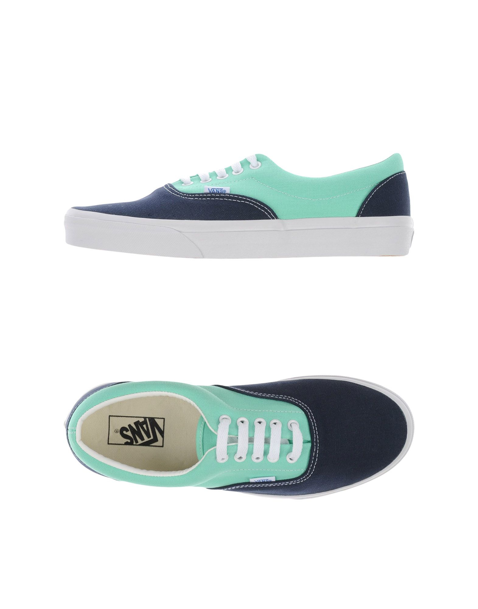 vans low tops trainers in green for men lyst. Black Bedroom Furniture Sets. Home Design Ideas
