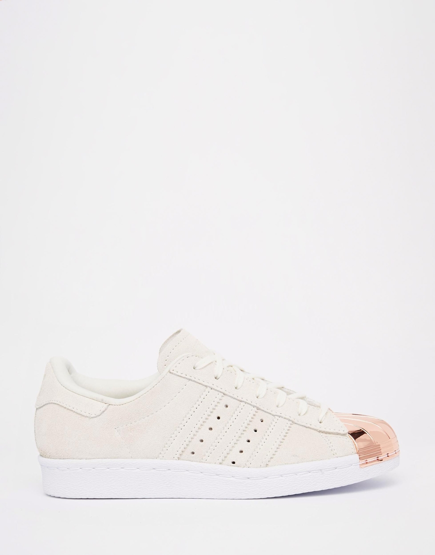 adidas originals superstar 80s leather low top sneakers in white lyst. Black Bedroom Furniture Sets. Home Design Ideas