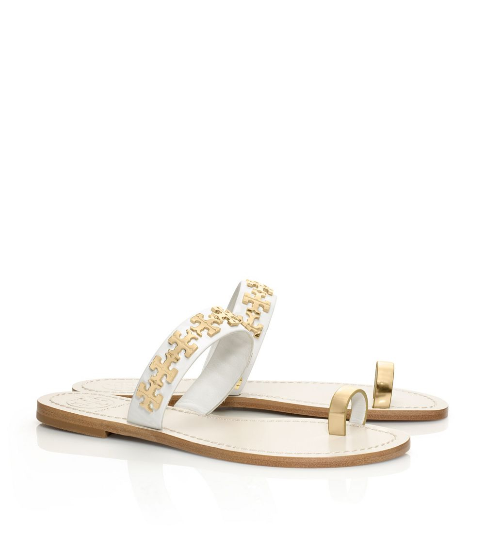 fc199a115 Lyst - Tory Burch Val Flat Sandal in Natural