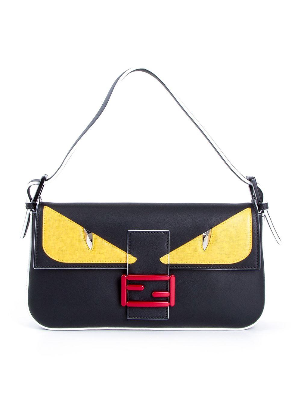 8bb9b51c4d9a ... real fendi baguette bag in black lyst 2599c d933d