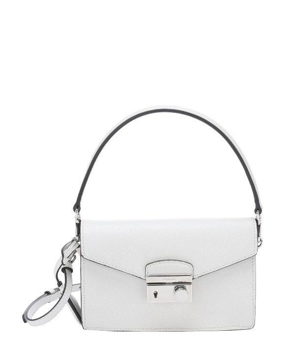 prada white bag leather