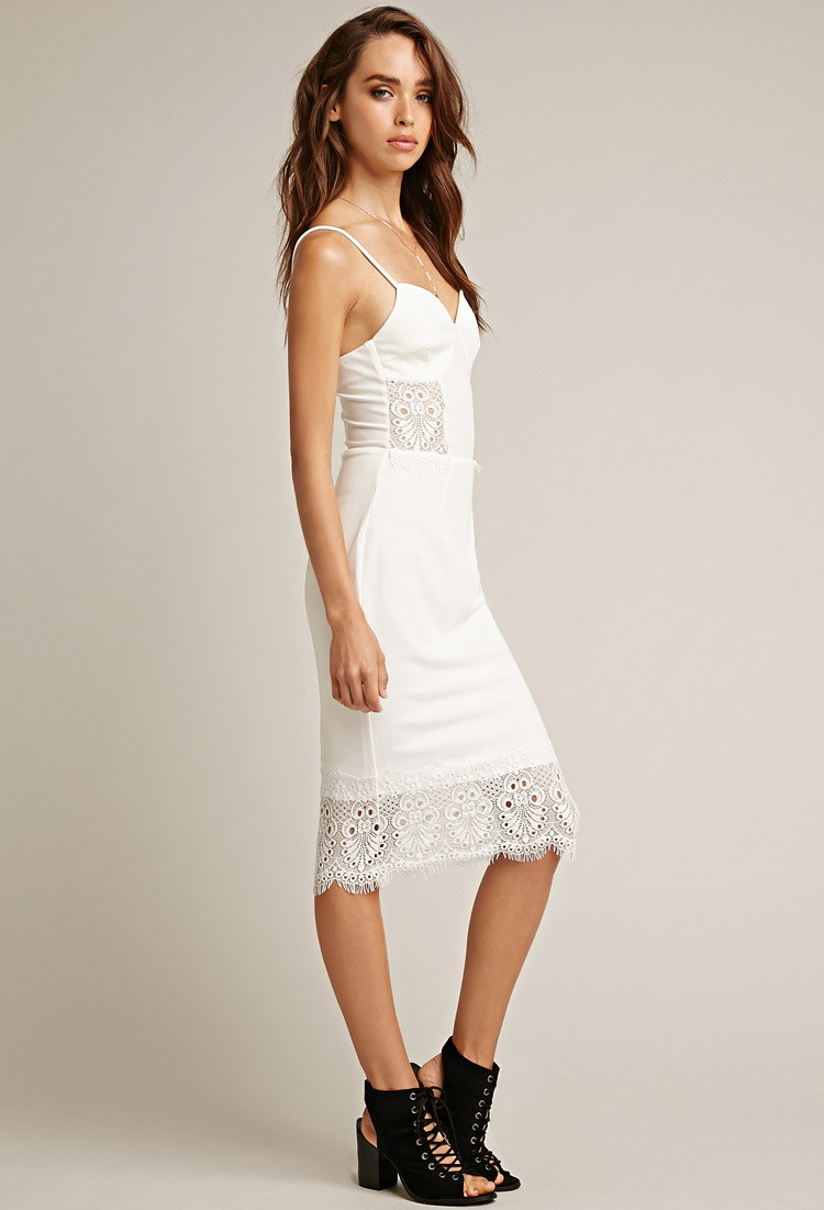 one shoulder white dress forever 21