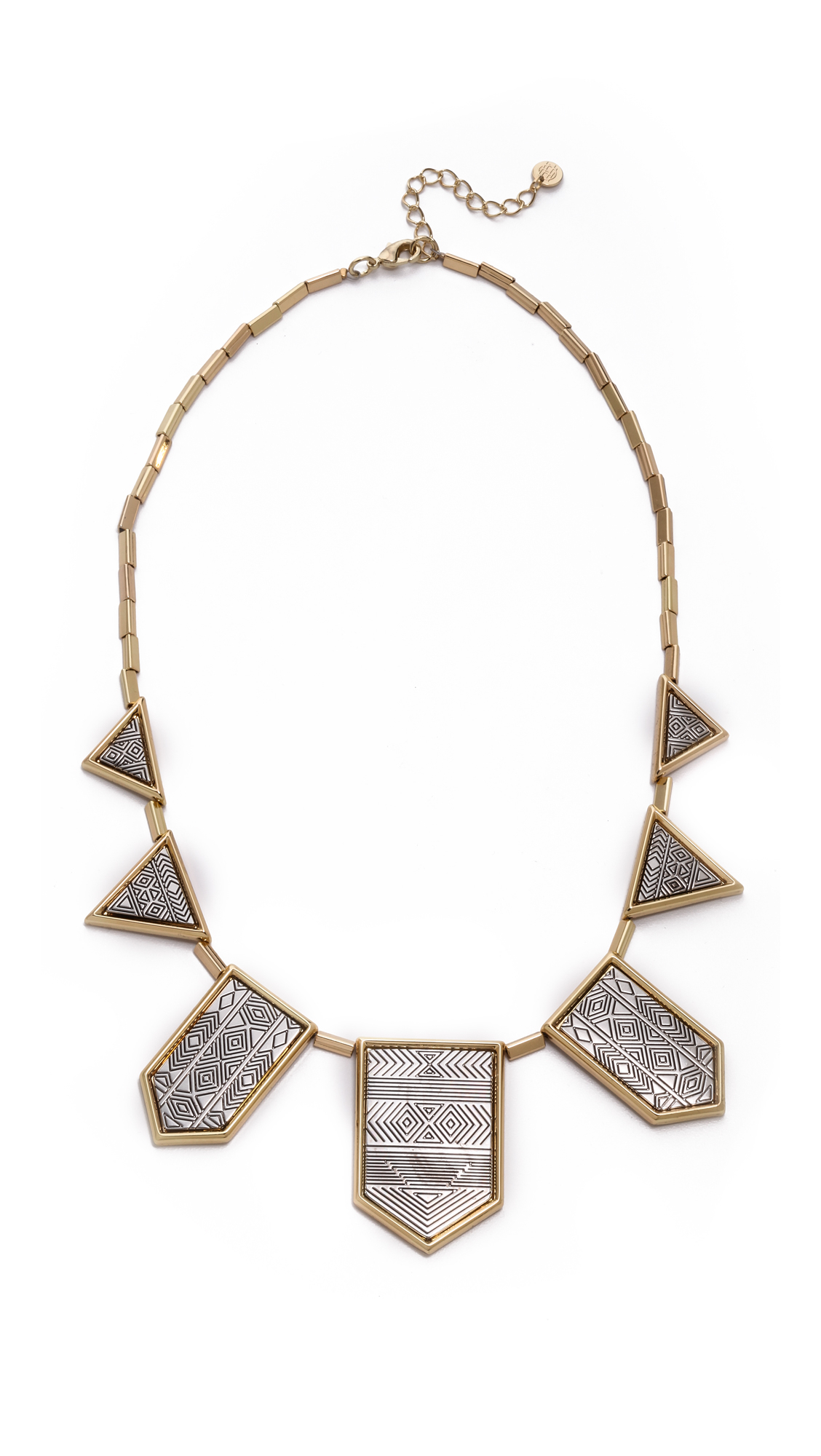 house of harlow engraved classic station necklace in