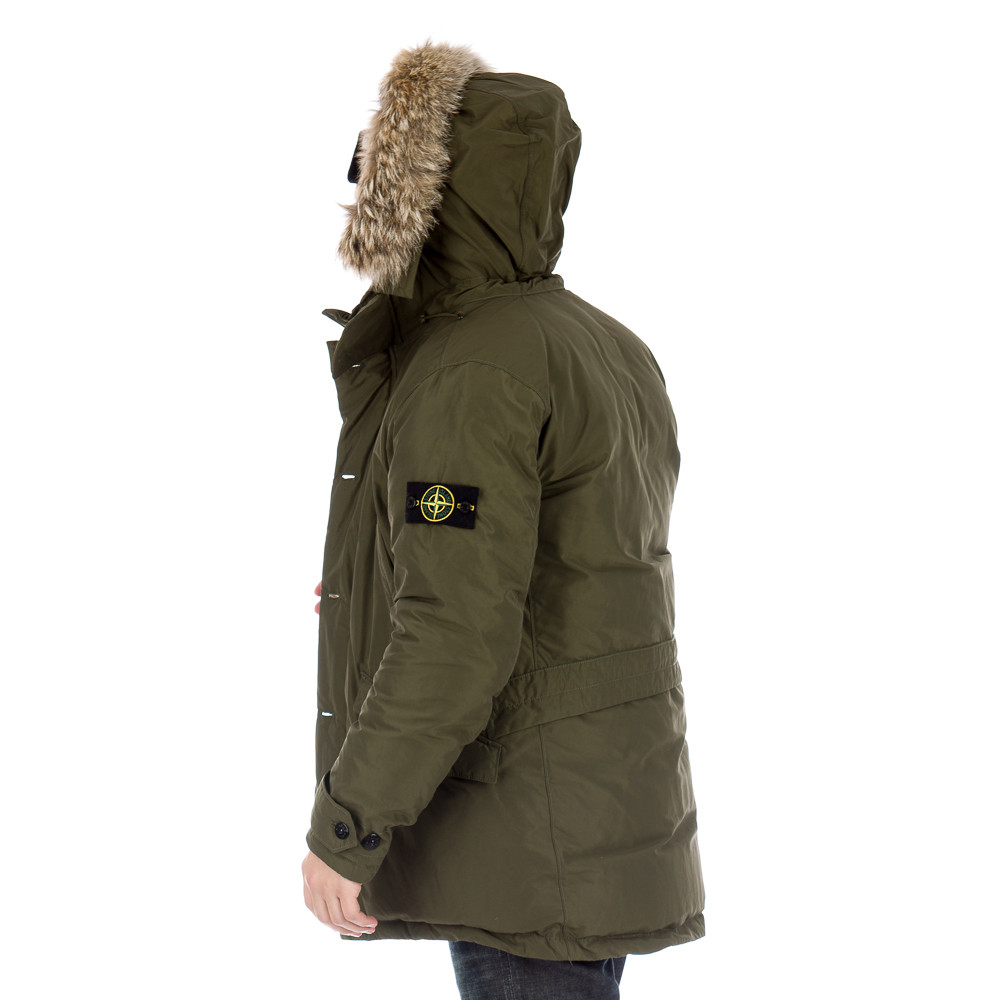 stone island micro reps fur hood parka jacket navy. Black Bedroom Furniture Sets. Home Design Ideas