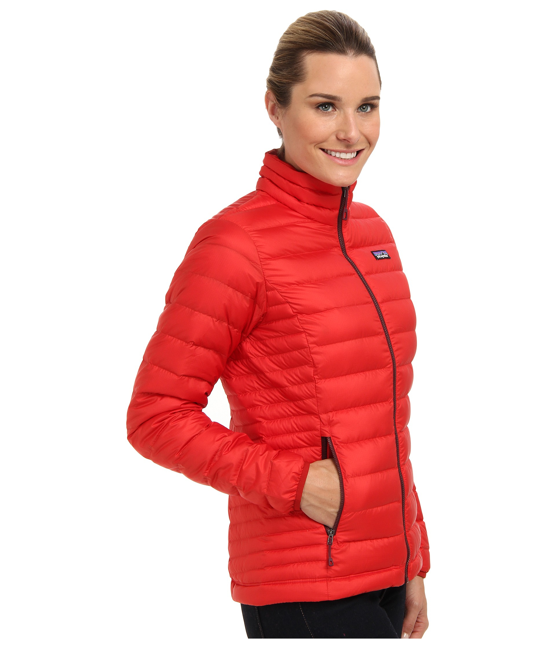 Patagonia Red Jacket: Patagonia Down Sweater Jacket In Red