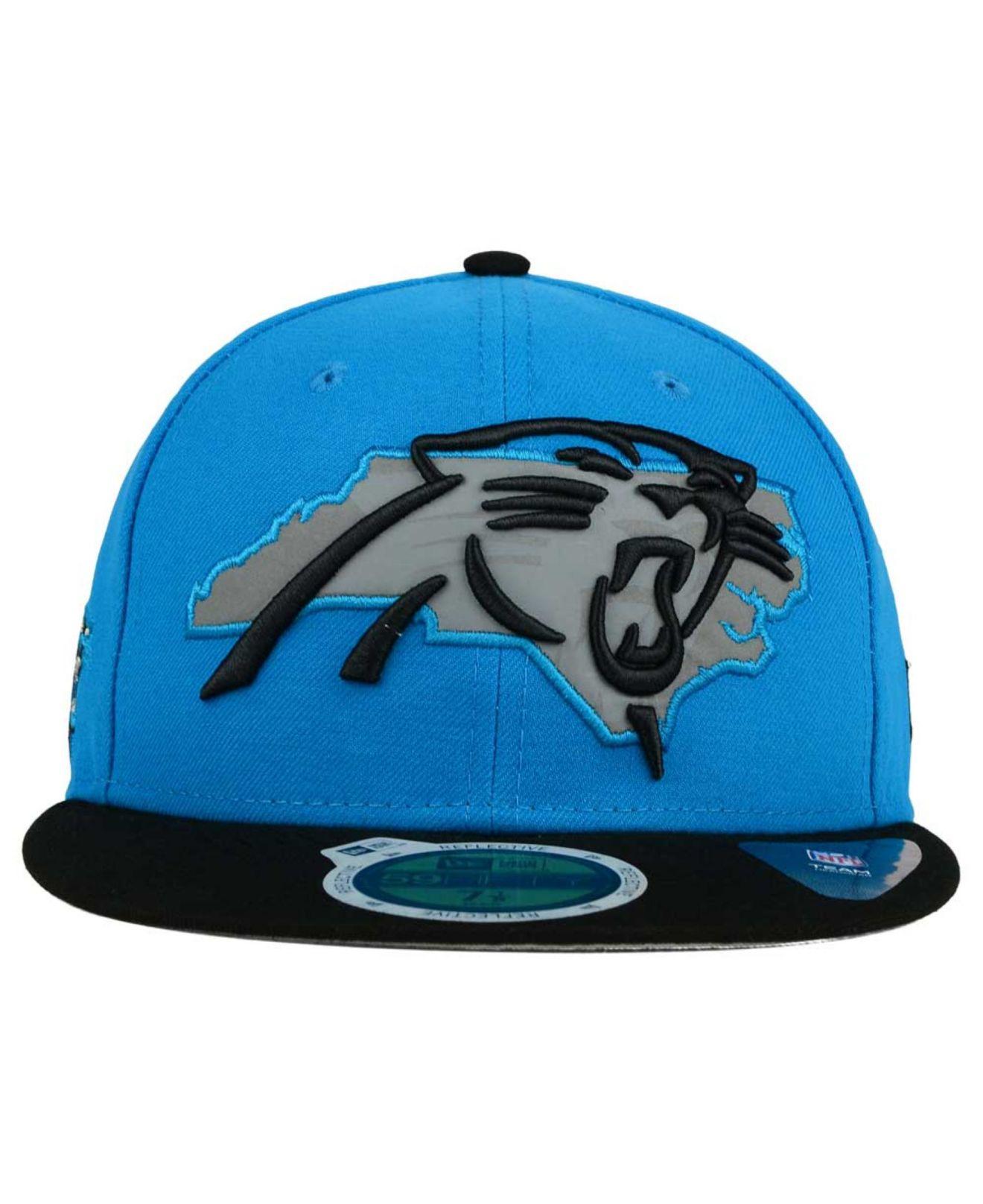 Lyst - KTZ Carolina Panthers State Flective Redux 59fifty Cap in ... 4cbd3b8b7