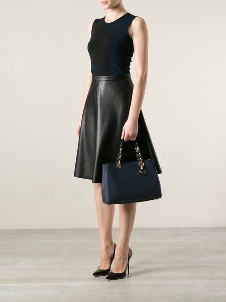 Inexpensive Michael Kors Cynthia Totes - Bags Michael By Michael Kors Cynthia Tote Blue