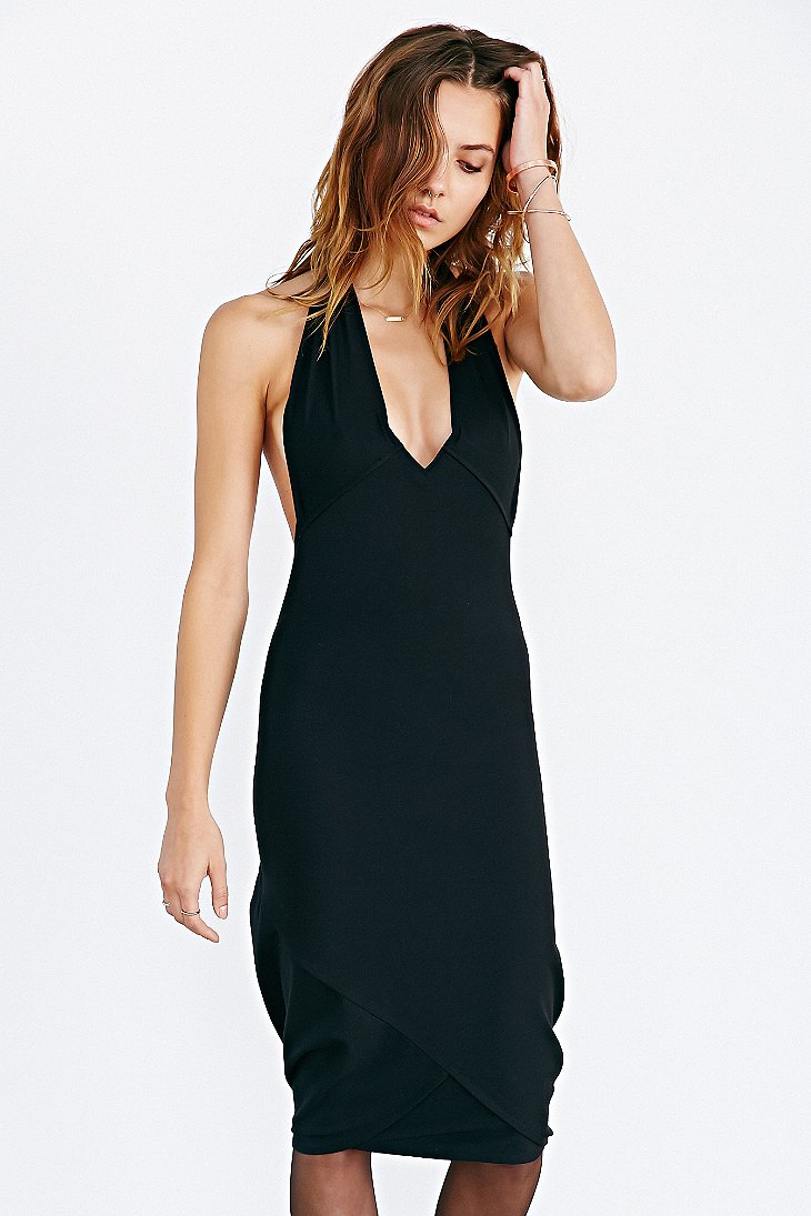 Maurie and eve black halter dress