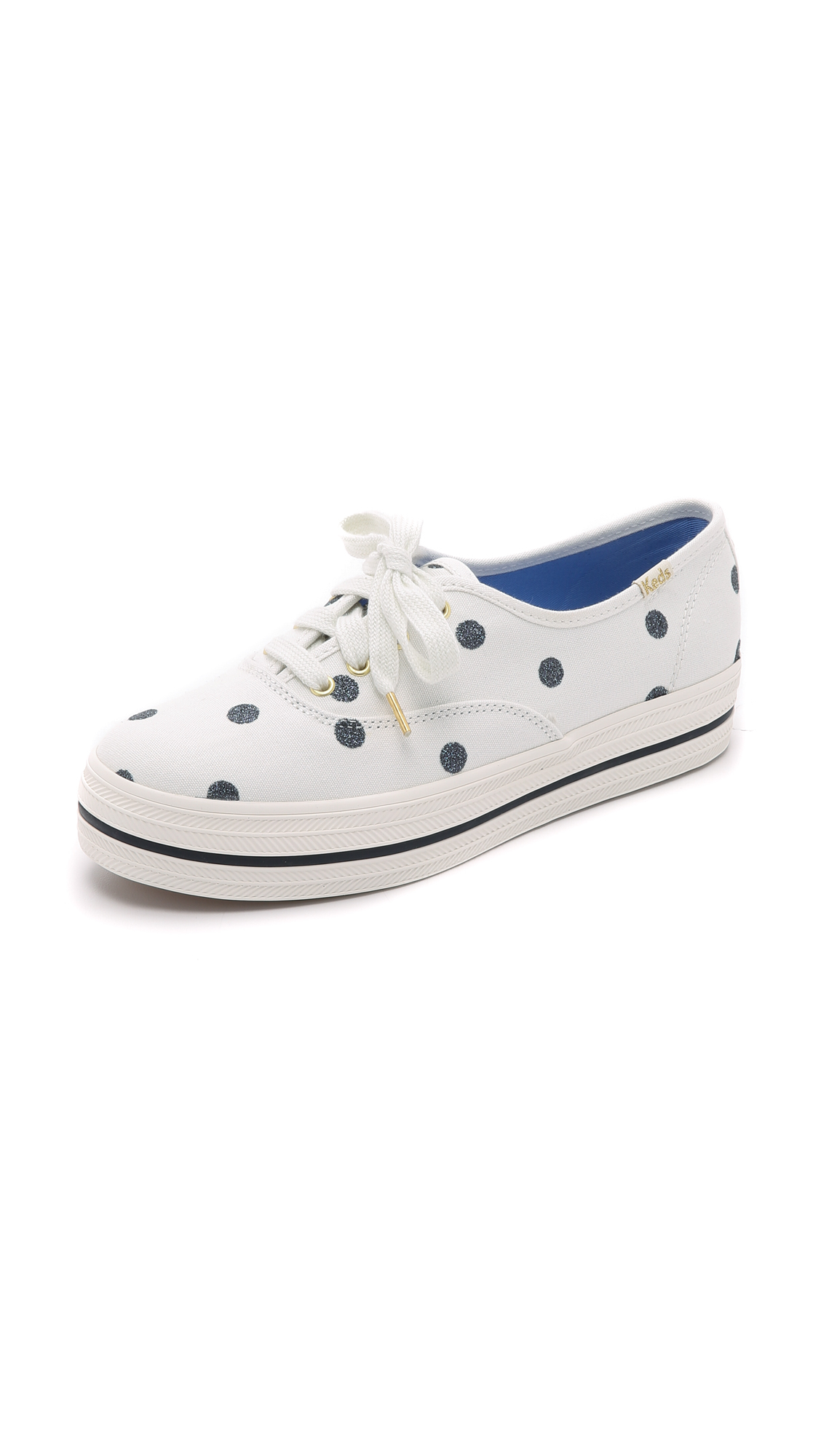 0470c3f957a1 Lyst - Kate Spade Keds For Kate Spade Triple Kick Dot Sneakers in ...