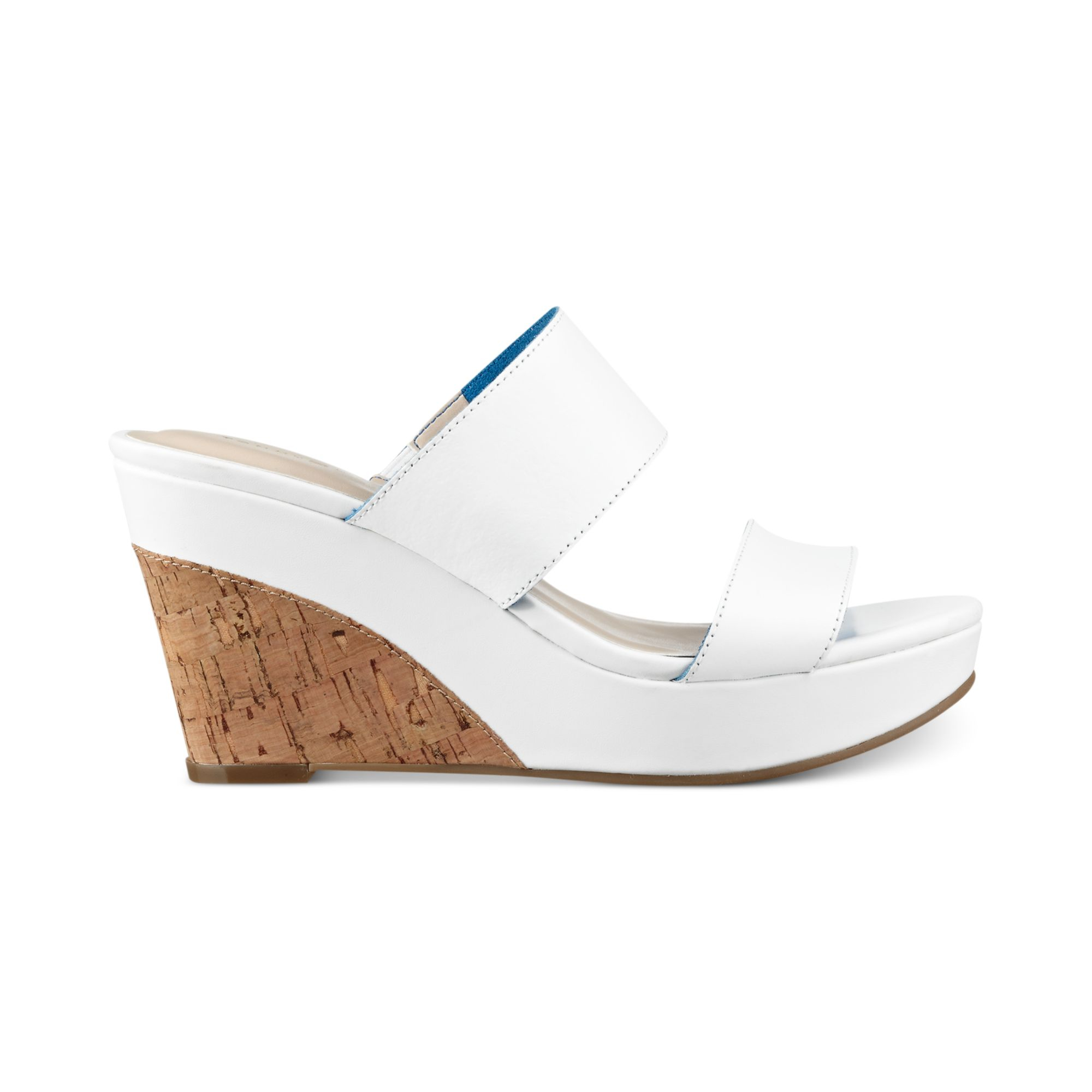 hilfiger kadine platform wedge sandals in white lyst