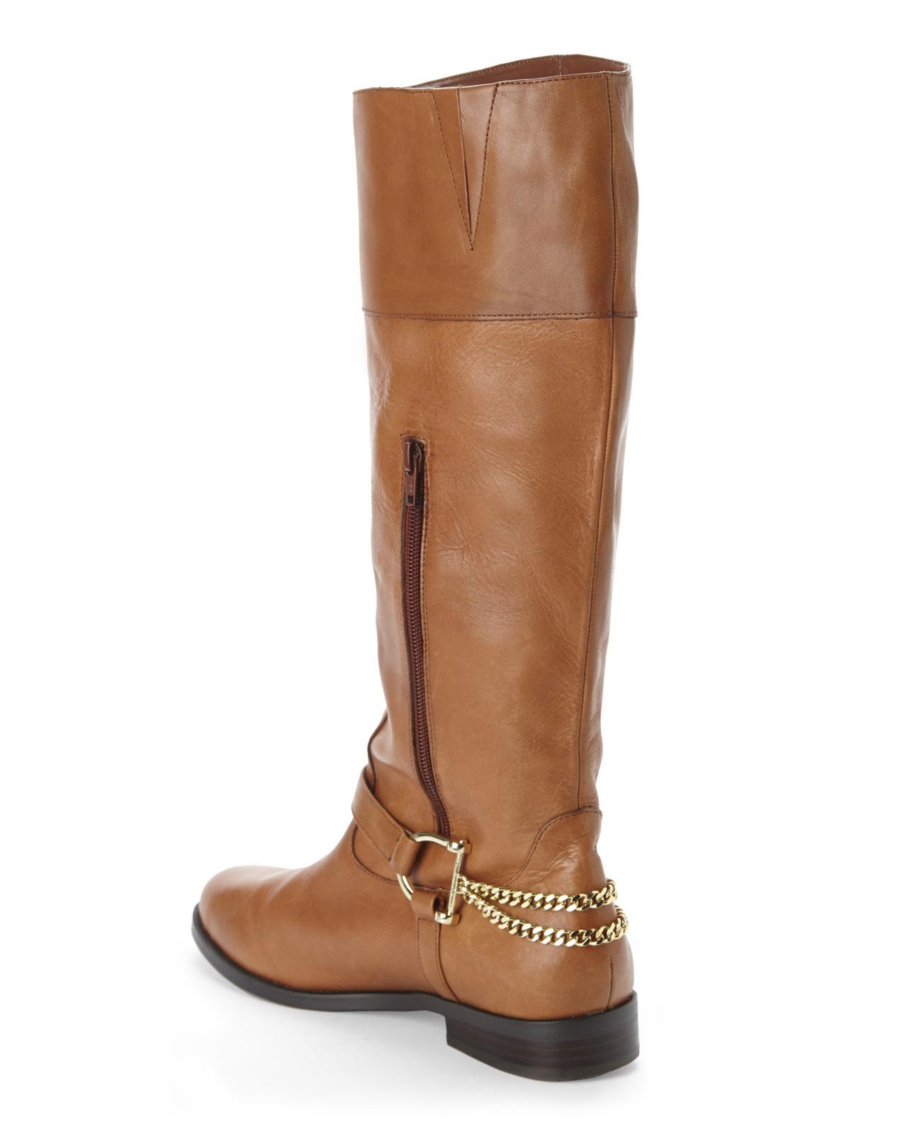 Lauren by ralph lauren Cognac Jacqui Riding Boots in Brown | Lyst