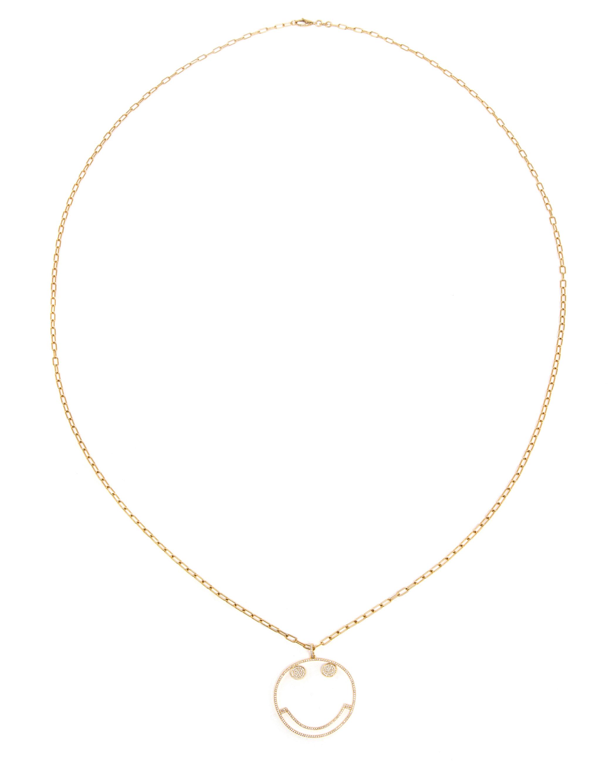 1c0d2ccc1f440 Lyst - Rosa De La Cruz 18k Yellow Gold And Diamonds Smile Pendant in ...