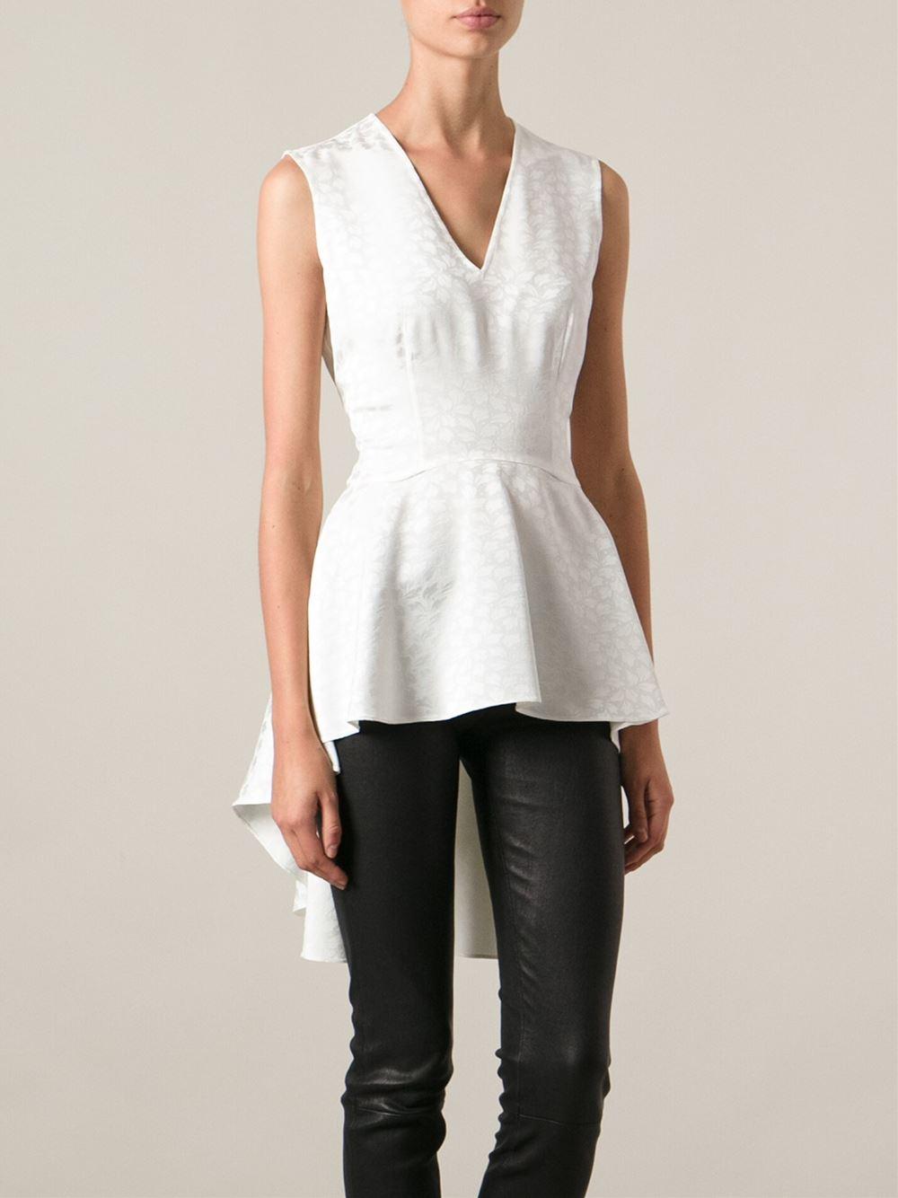 peplum blouse - White Alexander McQueen Shipping Discount Authentic cerNQ