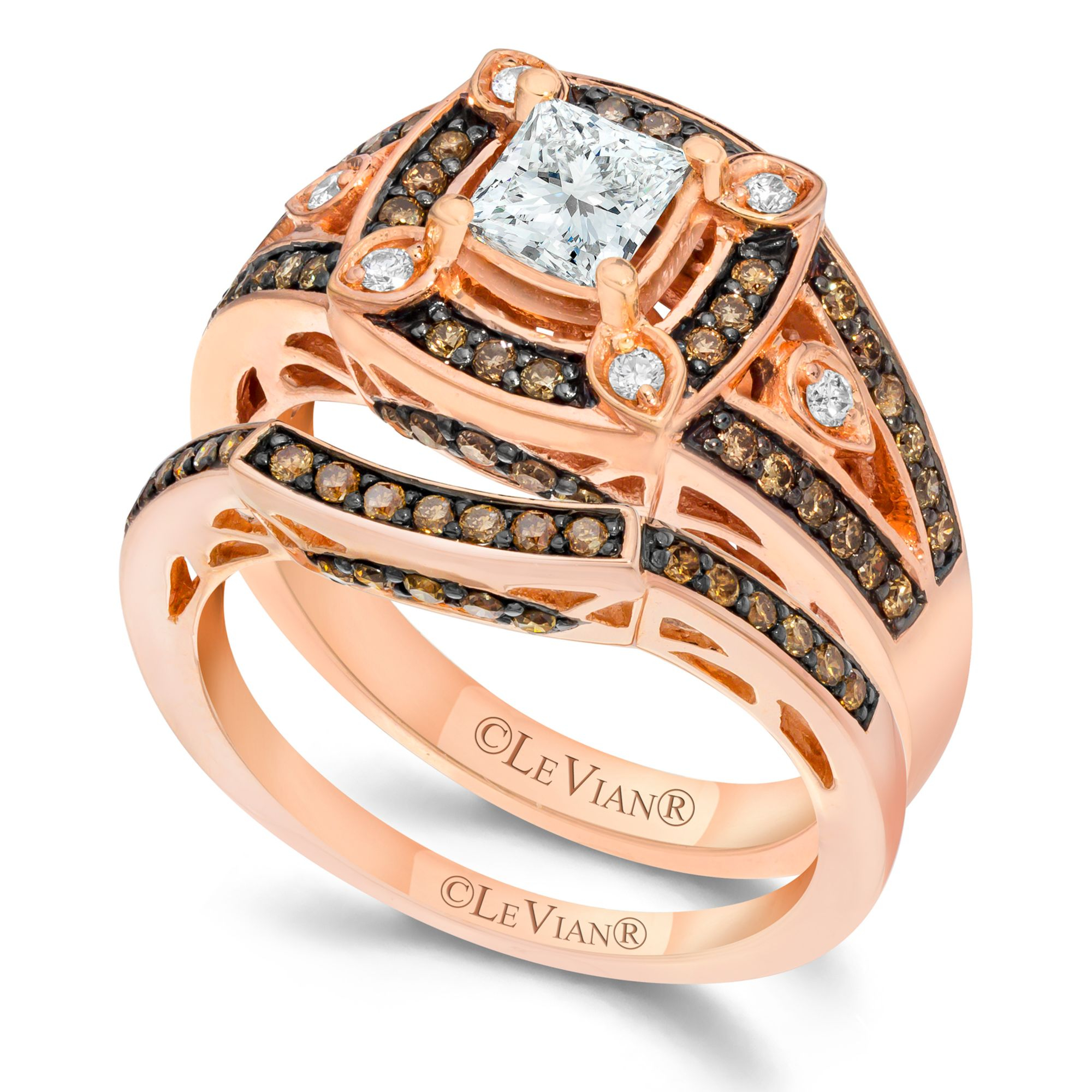Lyst Le Vian Chocolate and White Diamond Engagement Ring Set in