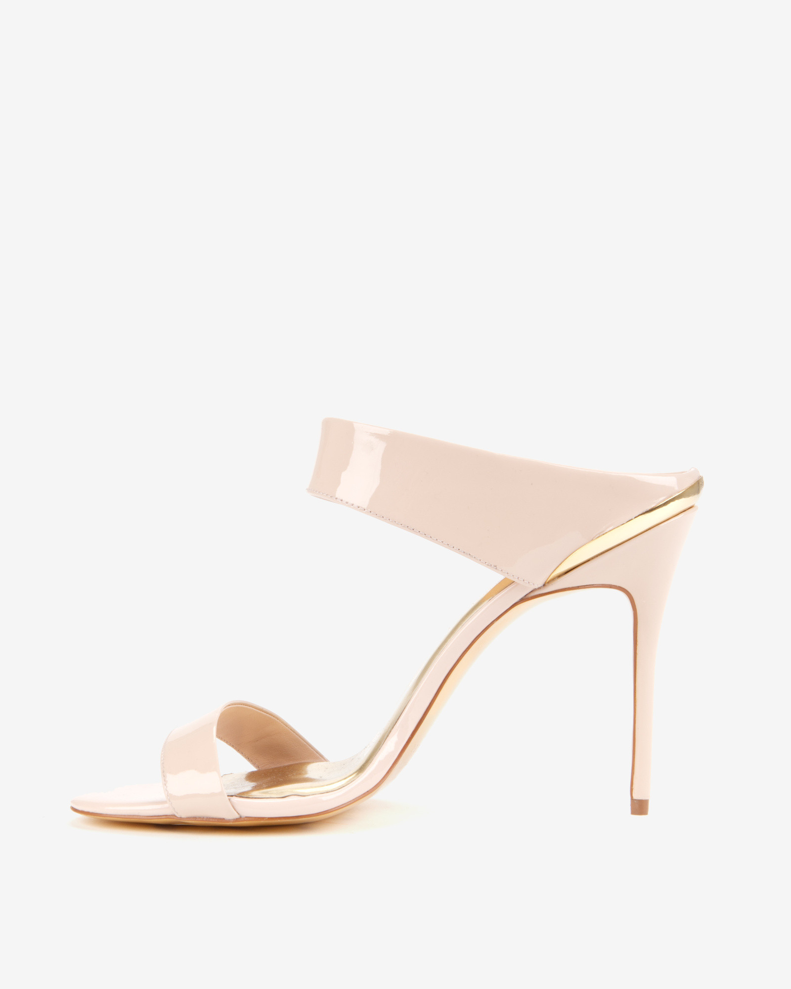 26dd3f70ac8 Lyst - Ted Baker Heeled Mule Sandals in Natural