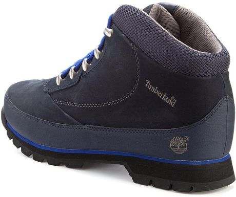 timberland eurobrook hiker boots in blue for navy lyst