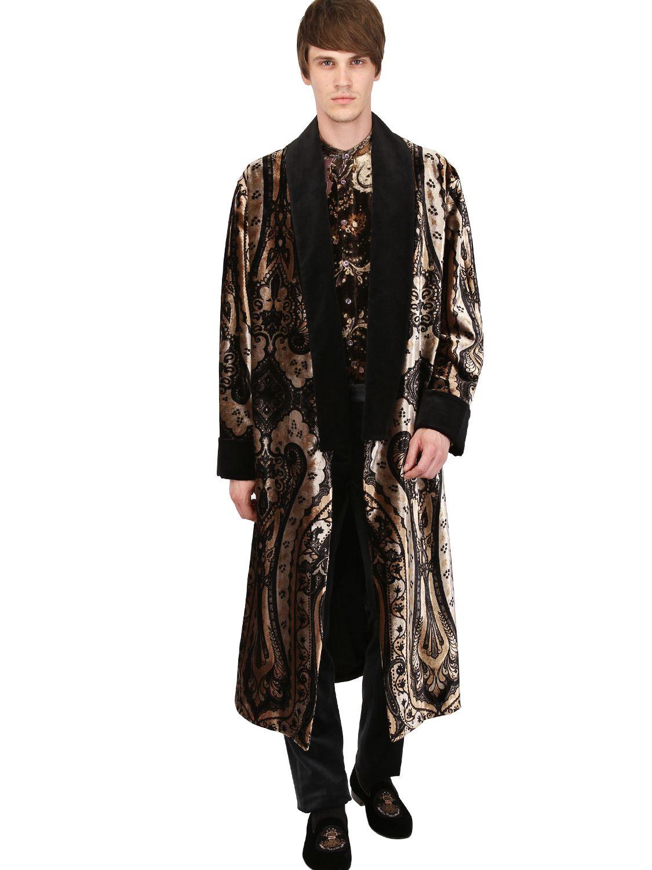 Lyst - Etro Silk Blend Kimono Coat in Metallic for Men